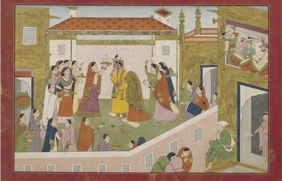 The Marriage of Krishna and Rukmini 1 570x365 - Masterworks & Museum Accessions